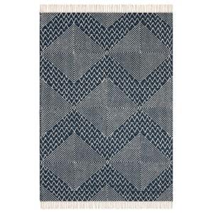 Tapis tissé à plat motif kilim en laine, Ottilie AM.PM