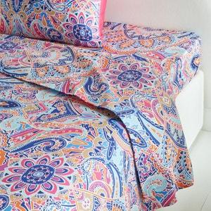 Divali Cotton Satin Flat Sheet La Redoute Interieurs image