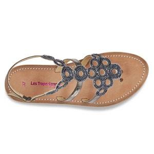 Ofélie Flat Heel Leather Sandals with Buckle LES TROPEZIENNES PAR M.BELARBI