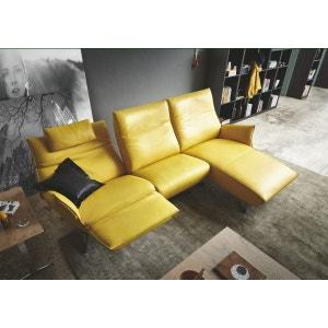 Canapé angle design relax électrique longchair cuir JEWEL RELAX TM SEANROYALE