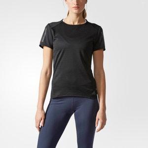 T-Shirt mit Rundhalsausschnitt, unifarben ADIDAS