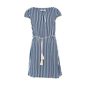 Kleid, kurze Ärmel, gestreift, runder Ausschnitt PARAMITA
