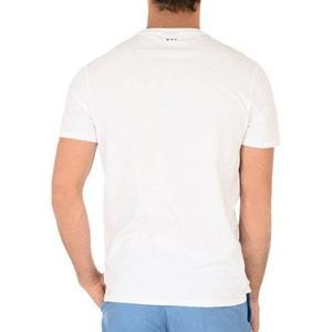 T-shirt okrągły dekolt, naszywka z przodu Sancy NAPAPIJRI
