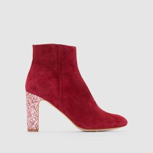 Boots en cuir velours talon pailleté Anouk MELLOW YELLOW