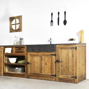 Meuble de cuisine 1 porte poignées frigo - Champetre  |  OP1117 MADE IN MEUBLES