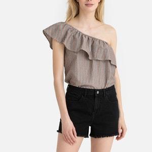 Asymmetrische blouse met volants