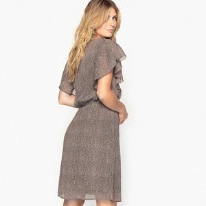 Vestido estampado de crepé arrugado ANNE WEYBURN