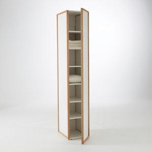Armario 1 puerta/6 estantes de roble macizo, Compo