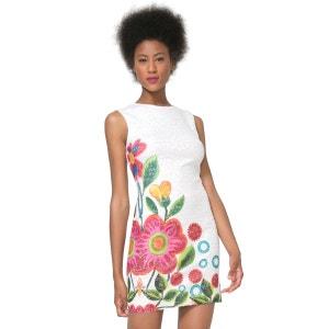 Robe sans manches moulante imprimé floral DESIGUAL