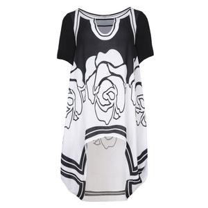 Long Graphic Print Dress MAT FASHION