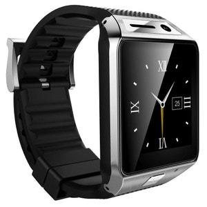 Smartwatch Bluetooth appareil photo montre téléphone connectée Argent Yonis
