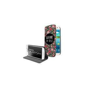 Etui livre La vie en rose pour Samsung Galaxy S4 mini EVETANE