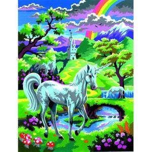 Peinture au numéro Débutants : Une licorne au pays des fées OZ INTERNATIONAL