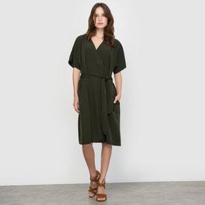 Satin Jersey Wrap Dress atelier R