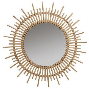 Miroir miroir design sur pied baroque mural la redoute for Miroir rotin blanc