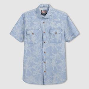 Bedrukt hemd met korte mouwen PETROL INDUSTRIES