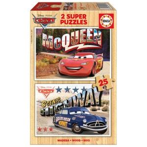 Puzzle 2 x 25 pièces : Cars EDUCA