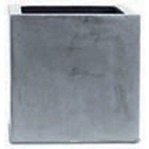 Bac Fibre de verre et composite Farn Exterieur Cube L 30 x 30 xH 30cm Gris Fonce - dimhaut: H 30 cm - couleur: Gris plomb-lead ARTIFICIELLES