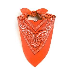 Foulard bandana orange ALLEE DU FOULARD