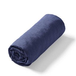 Sábana bajera de lino lavado Elina para colchón grueso