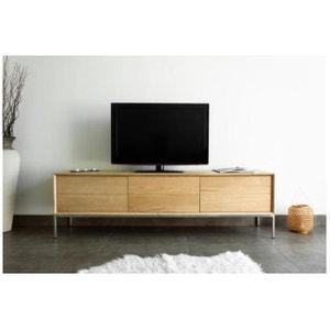 Meuble TV 2 tiroirs 1 porte en chêne massif COPA DECLIKDECO