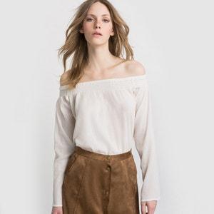 Blusa lisa, puro algodão R essentiel