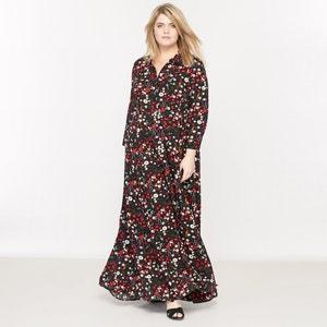 Long Floral Printed Dress CASTALUNA