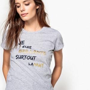 T-shirt met tekst La Redoute Collections