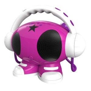 Lecteur rose blanc violet MP3 USB avec enregistreur vocal 2 micros BIG BEN