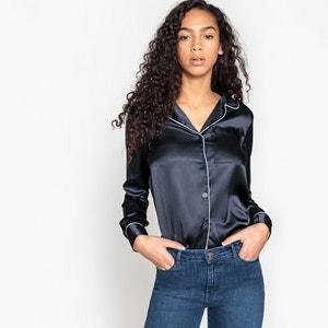 Satijnen blouse met tailleurkraag La Redoute Collections