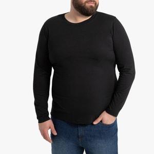 T-shirt met lange mouwen in katoen