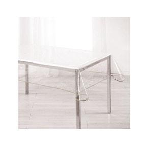 Nappe imperméable rectangulaire en PVC  140 x 240 cm  transparente taupe DOUCEUR D'INTÉRIEUR