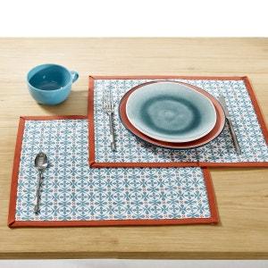 Sets de table, AZILIA, coloris bleu (lot de 2) La Redoute Interieurs