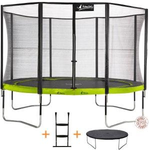 Trampoline de jardin 365 cm + filet de sécurité + échelle + bâche de protection   PUNCHI ALOE 360 KANGUI