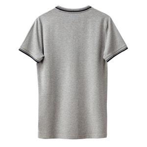 Camiseta de cuello redondo estampada de punto piqué La Redoute Collections