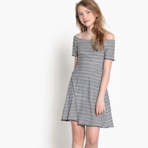 Sukienka w paski z krótkimi rękawami 10-16 lat La Redoute Collections