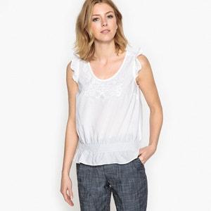 Plain Short-Sleeved V-Neck Blouse ANNE WEYBURN