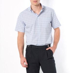 Camisa de mangas curtas, popelina puro algodão, estatura 3 TAILLISSIME