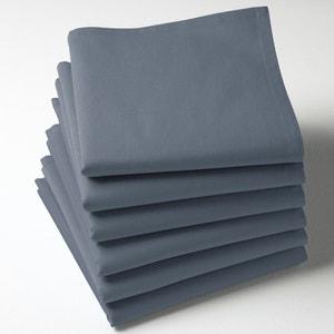 6er-Pack Servietten, uni, reine Baumwolle SCENARIO