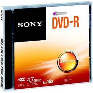 DVD SONY DVD-R 4.7GB X5 SONY
