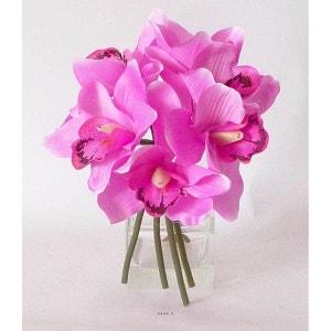 Bouquet de Cymbidium artificiel 6 tetes Diametre 18 cm Rose fushia - couleur: Rose fushia ARTIFICIELLES