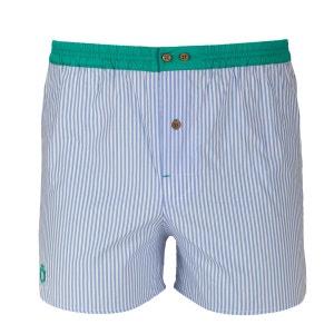 Caleçon à rayures bleues avec ceinture verte DAGOBEAR