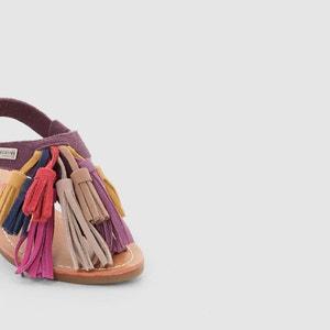 Platte sandalen in leer, LES TROPEZIENNES, Gorby LES TROPEZIENNES PAR M.BELARBI