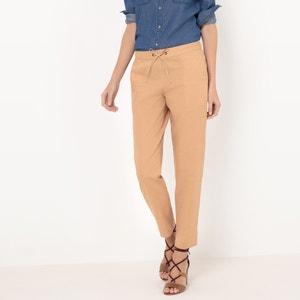 Pantalon fuselé, coton/lin La Redoute Collections