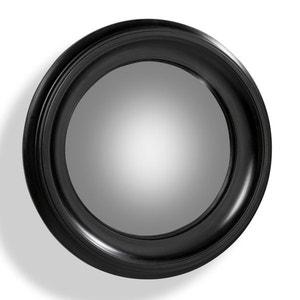 Espejo redondo Habel con marco negro de 60 cm de diámetro AM.PM.
