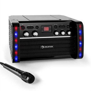 Disco Fever Chaîne Karaoke Lecteur CD/-CD+G support iPad AUNA