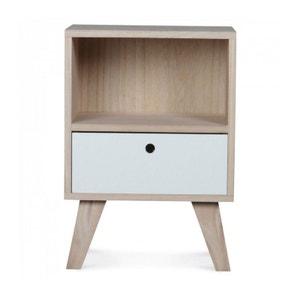 Table de Chevet Design en Bois - Haut. 50cm WADIGA