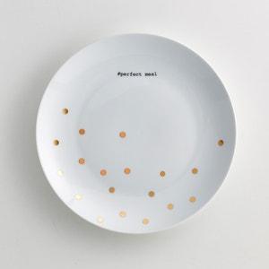 4 тарелки плоские из фарфора, Kubler La Redoute Interieurs