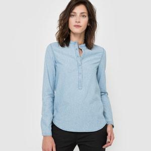 Bluzka koszulowa bawełniana, z długim rękawem R essentiel
