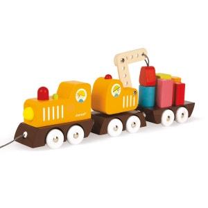 Train Grue Multi Colors en bois JANOD